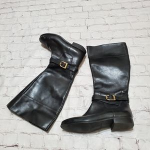 Cole Haan Black Leather Woman Boots 8.5 B
